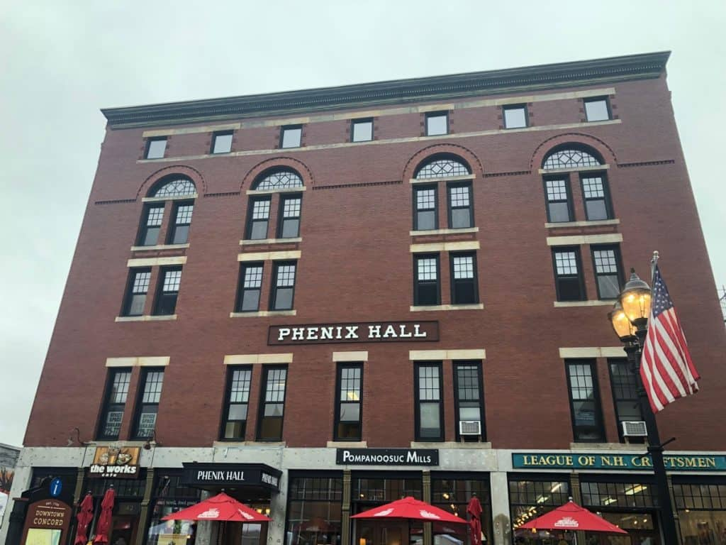 The Front of Phenix Hall Concord NH