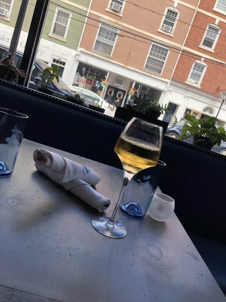 Glass of wine at Lure Portsmouth NH