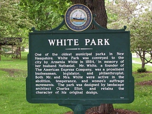 white park concord nh sign