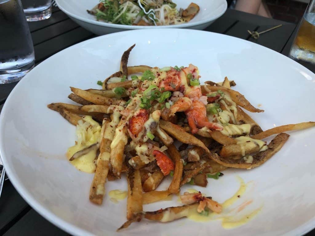 lobster poutine at revival kitchen and bar concord nh